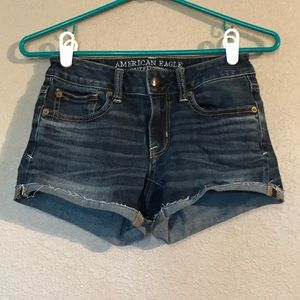 Size 00 American Eagle Jean Dark Wash Shorts